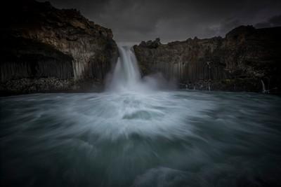Dramatic waterfall Aldeyjarfoss