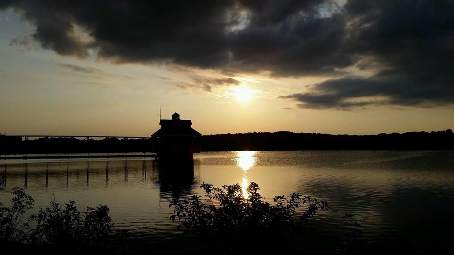 Sun setting, Delaware