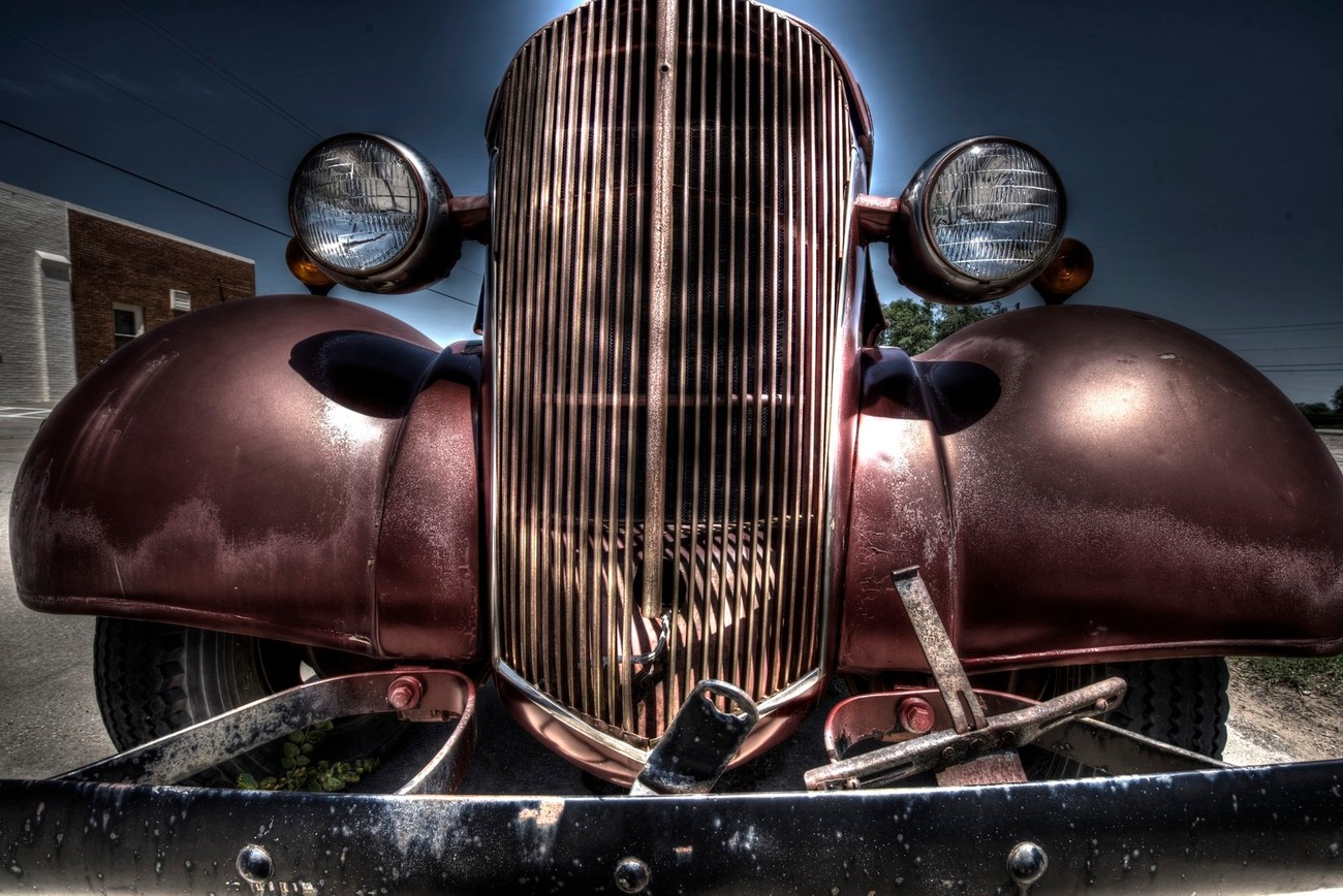 A vintage Chevrolet Truck in Shamrock, Texas