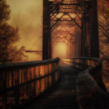 Palmetto Trail bridge over the Broad River at Peak, South Carolina