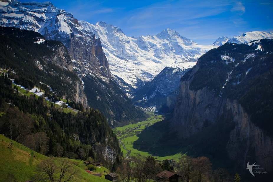 Training down from Jungfraujoch, Switzerland.