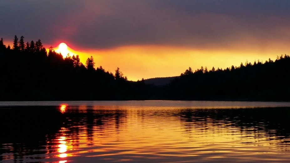 This sunset was so incredible to witness. The smoky (and sad) part came from the nearby wildfires...