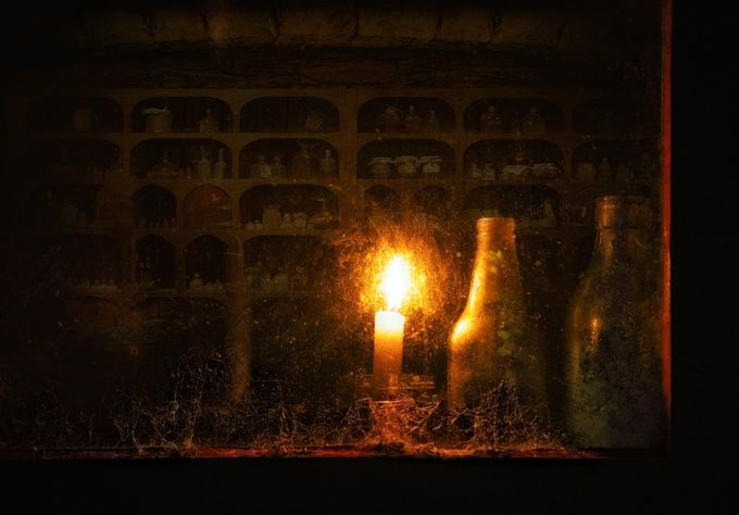 The alchemists window by firerae - Shooting Fire Photo Contest