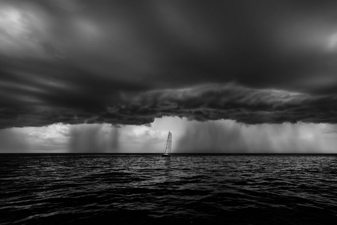 alone through the storm by LeviLangerakPhotography - Rain Photo Contest