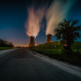 Jacksonville Florida JEA power plant cooling towers for coal fired plant not nuclear. Being closed this year not effective cost wise. These no lo...
