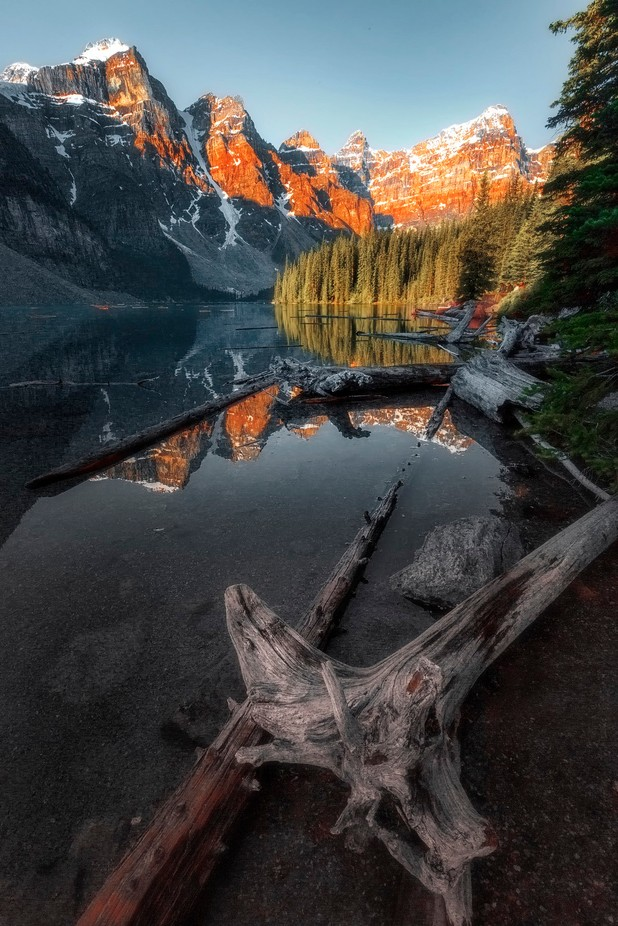 Moraine Lake Sunrise by brianadamson - Covers Photo Contest Vol 40