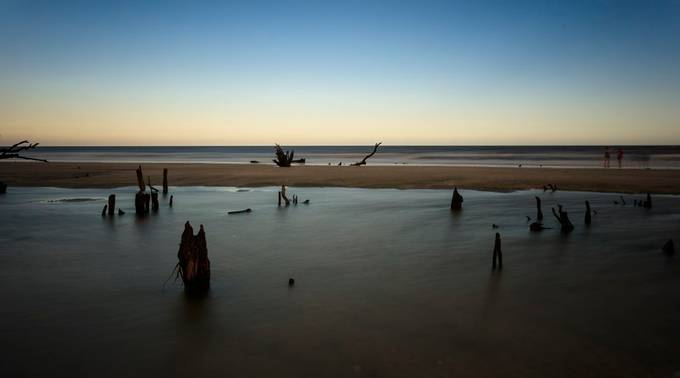 Botney Bay, Edisto, South Carolina- After Hurricane Matthew. My 1st trip since October 2016. This was the 1st day that the beach access was open.