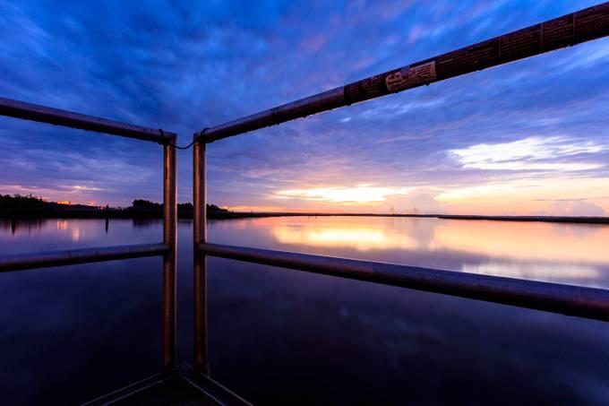 Sunrise at Bushy Park Boat Landing in Goose Creek, South Carolina