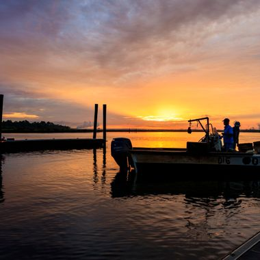 Sunrise at Bushy Park Boat Landing in Goose Creek, South Carolina