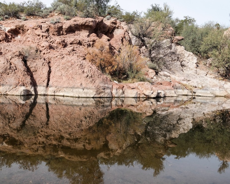 This is a long the Salt River in Az.