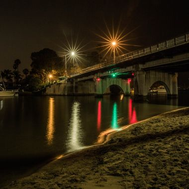Went with a good friend to find interesting views of night scenes.  Drove on this bridge and thought it may be interesting to get down below...  This shot was done closed to midnight...