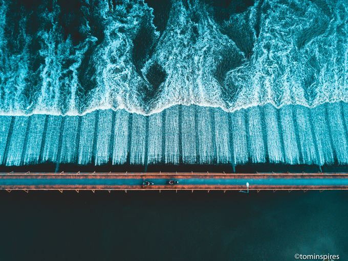 River Crossing Thailand - Bridge - Aerial  by tominspires - Capture The Four Elements Photo Contest