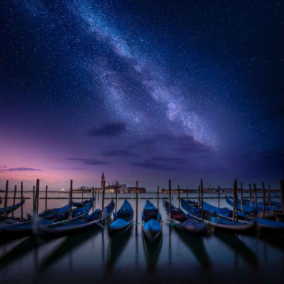 Visions of Blue by -LightHunter- - City In The Night Photo Contest