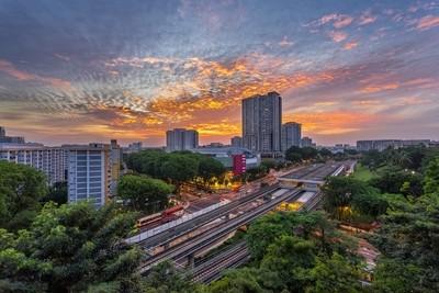 Sunset at Ang Mo Kio