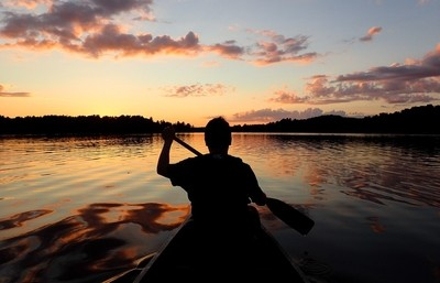 Paddling to my happy place