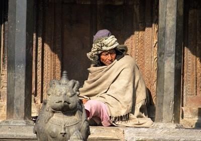 Old Man at the Temple, Kathmandu