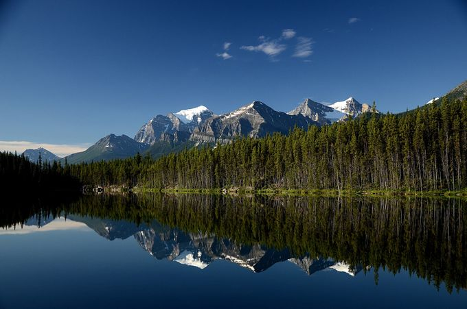 Herbert Lake Serenity by davebosen - Blue Skies Photo Contest