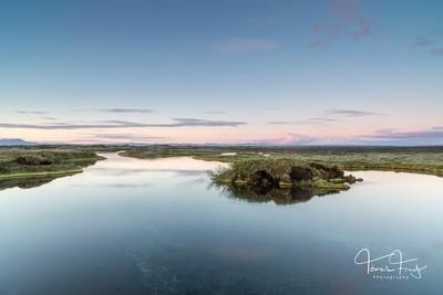 Sunset at Suðurá