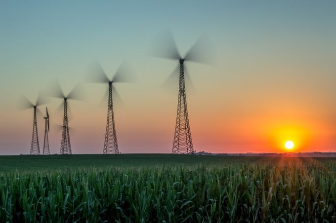 Harnessing the wind by dianadowhower - Windmills Photo Contest