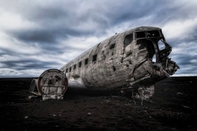 The famous DC-3 wreck at Solheimasunder in Iceland