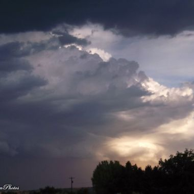 Monsoon sunset / dust storm