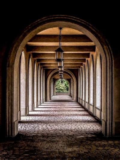 Outdoor Hallway HDR