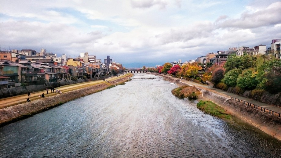 River, Kyoto in Japan