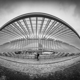 The impressive Liège-Guillemins station
