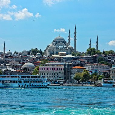 Me and my family were in Istanbul in the year 2013. The day I took this photo, we were enjoying the view of the Bosphorus and the city.