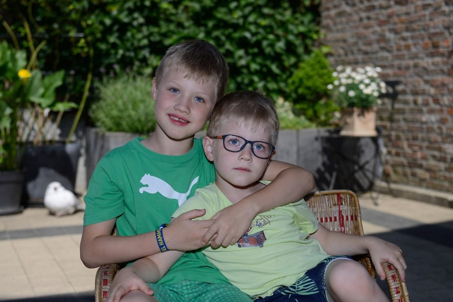 These are my favorite models, my grand sons.I have  underlight them on my camera and fill in with...