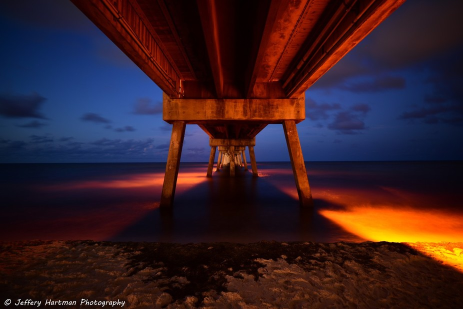 Under the Okaloosa Island Fishing Pier during the Blue Hour