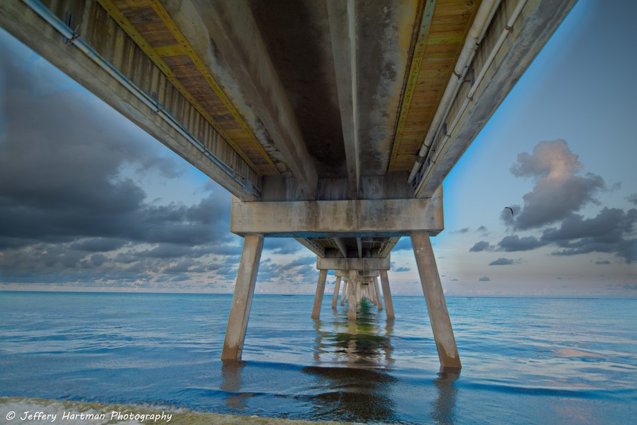 Under the Okaloosa Island Fishing Pier