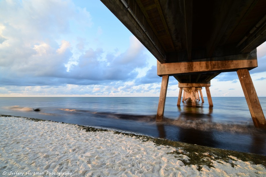 Under the Okaloosa Island Fishing Pier looking SE