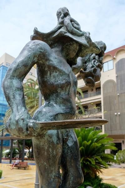 MARBELLA, ANDALUCIA/SPAIN - JULY 6 : Salvador Dali Sculpture of Perseus in Marbella Spain on July 6, 2017