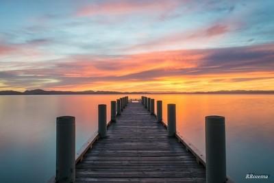 Magazine Bay pier sunrise