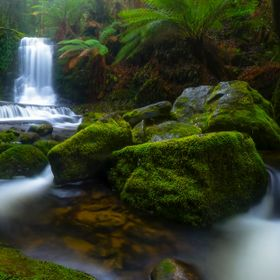 The incredibly beautiful Horseshoe Falls, located in the Mt Field National Park, Tasmania.