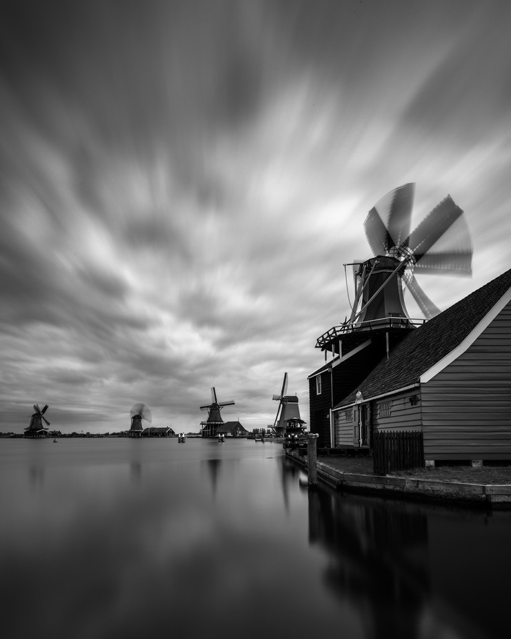 Zaanse Schans mills by madspeteriversen - Wind In Nature Photo Contest