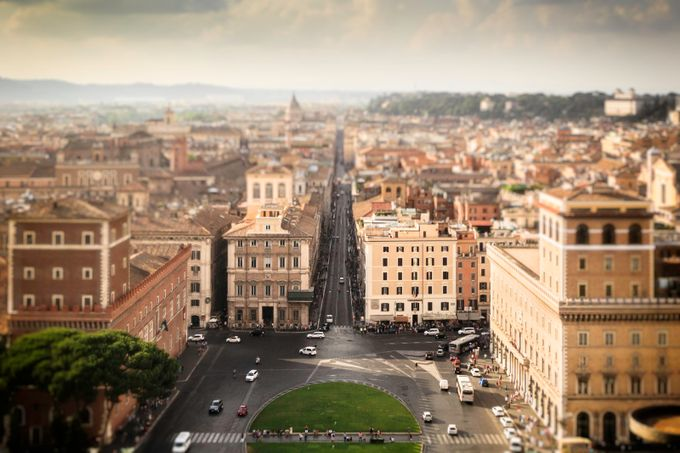 Birds eye view of Rome by regnaphoto - TiltShift Effect Photo Contest