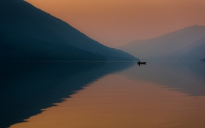 Fishing in the Light of the Fire