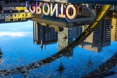 Reflection of a City