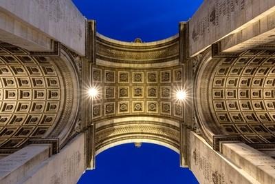 Ceiling of the Arc de Triomphe at Paris