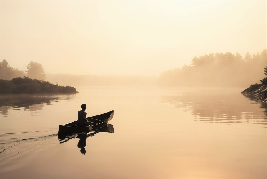 Taken early morning on Riley Lake in the Muskoka area of Ontario, Canada. I was looking for an ea...