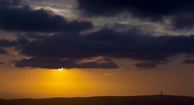 sunset over cheshire