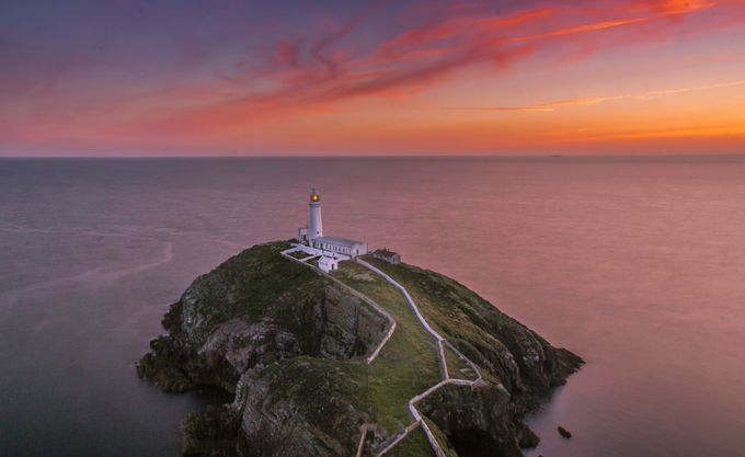 Sout Stack Lighthouse sunset by larryplatner - Covers Photo Contest Vol 40
