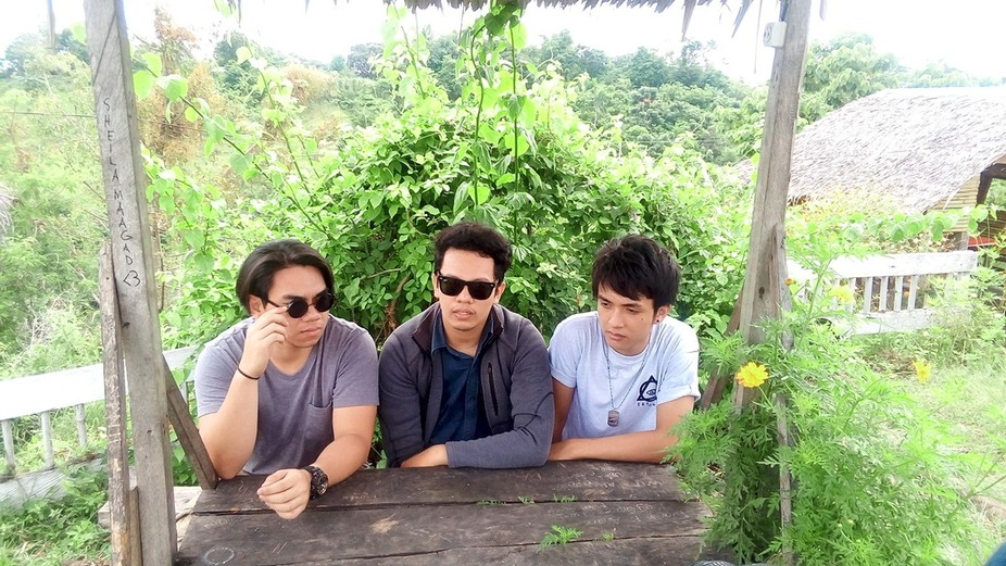 A candid shot for the behind the scenes of the making of their music video using my phone.