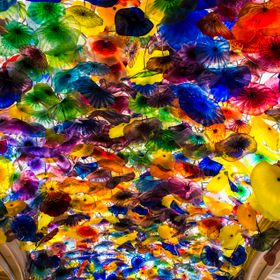 Lobby of the Bellagio Hotel in Vegas