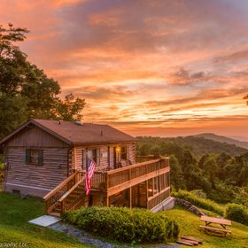 A very unique sunset from our slice of paradise in the blue ridge mountains of Virginia. A thunderstorm moved through earlier, isolating some poc...