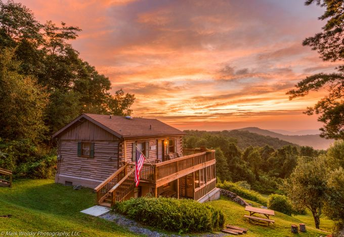 Cabin Susnet in the Appalachian Mountains by MWPhotography2 - Simple Architecture Photo Contest