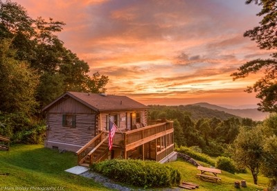 Cabin Sunset in the Appalachian Mountains