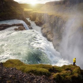 The mighty Gullfoss waterfall in Southern Iceland
